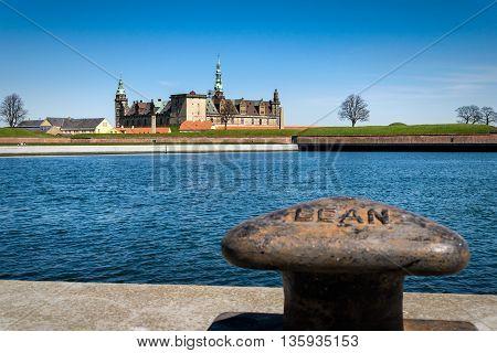 Kronborg Castle, residence of Hamlet, settled in a town Helsingor, north of Copenhagen, Denmark