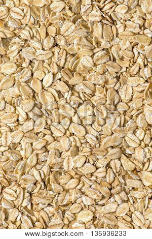 Close up of raw multigrain oatmeal background