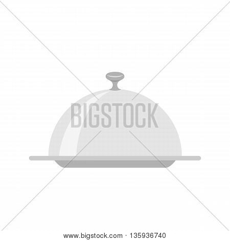 Restaurant cloche isolated on white background. vector illustration