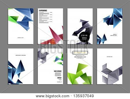 Abstract Background. Geometric Shapes and Frames for Presentation, Annual Reports, Flyers, Brochures, Leaflets, Posters, Document Cover Pages Design. A4 Title Sheet Template