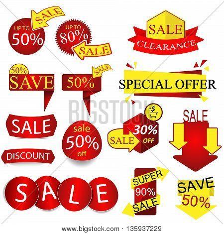 Vector Sale Tags ,Arrow Labels. Vector /Illuatration