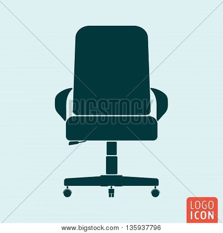 Chair icon isolated. Ofiice chair symbol. Vector illustration