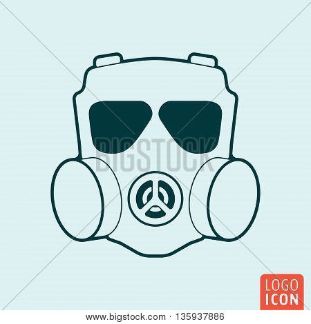 Respirator icon isolated. Chemical gas mask symbol. Vector illustration