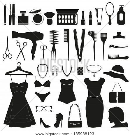 Beauty and Fashion icons collection for women.