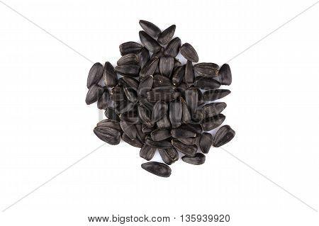 Heap Of Black Sunflower Seeds