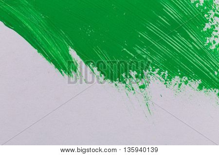 Green Stroke Of The Paint Brush