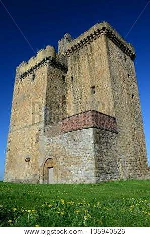 An external view of the medieval tower at Clackmannan