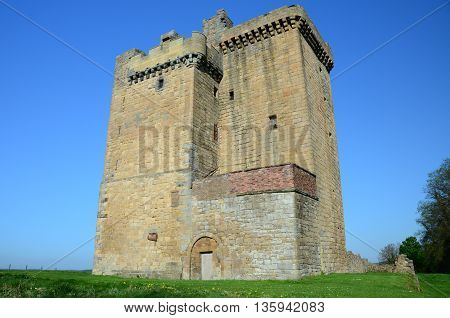 A view of the medieval tower at Clackmannan