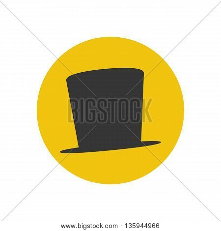 Hat vector illustration on the yellow background. Vector illustration
