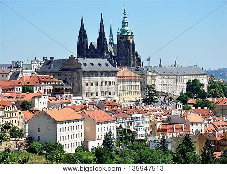 Castle of Prague and St. Vitus Cathedral, Czech Republic, Europe