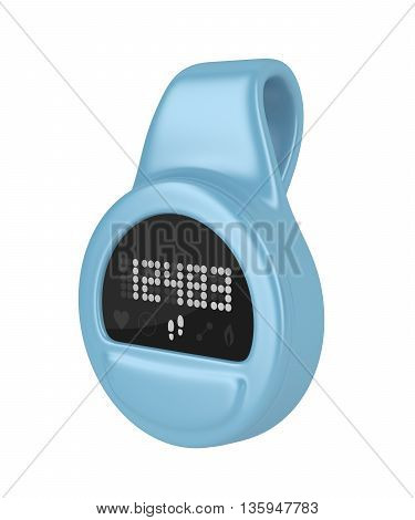 Clip-on activity tracker isolated on white background, 3D illustration