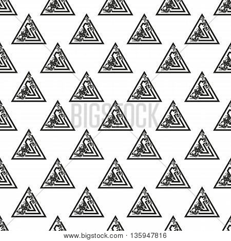 Background with geometric patterns. Triangle seamless pattern