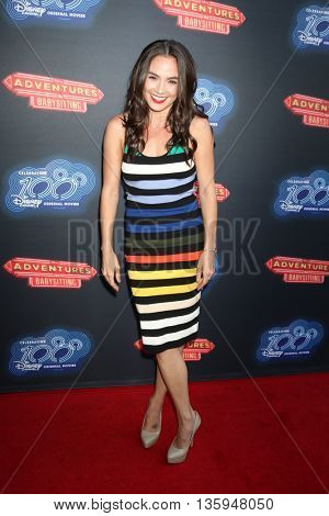 LOS ANGELES - JUN 23:  Jessica Lee Keller at the 100th DCOM Adventures In Babysitting LA Premiere Screening at the Directors Guild of America on June 23, 2016 in Los Angeles, CA