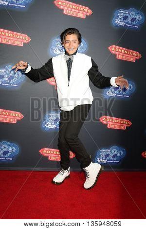 LOS ANGELES - JUN 23:  Isaak Presley at the 100th DCOM Adventures In Babysitting LA Premiere Screening at the Directors Guild of America on June 23, 2016 in Los Angeles, CA