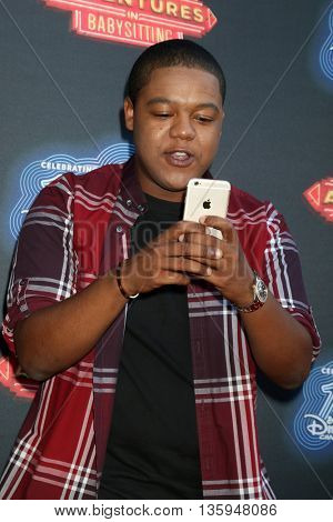 LOS ANGELES - JUN 23:  Kyle Massey at the 100th DCOM Adventures In Babysitting LA Premiere Screening at the Directors Guild of America on June 23, 2016 in Los Angeles, CA