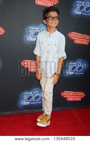 LOS ANGELES - JUN 23:  Nicolas Bechtel at the 100th DCOM Adventures In Babysitting LA Premiere Screening at the Directors Guild of America on June 23, 2016 in Los Angeles, CA