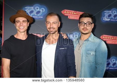 LOS ANGELES - JUN 23:  Matthew Lawrence, Joe Lawrence, Andrew Lawrence at the 100th DCOM Adventures In Babysitting LA Premiere Screening at the DGA on June 23, 2016 in Los Angeles, CA