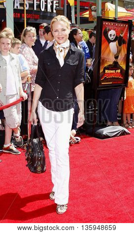 Maria Bello at the Los Angeles premiere of 'Kung Fu Panda' held at the Grauman's Chinese Theater in Hollywood, June 1, 2008.