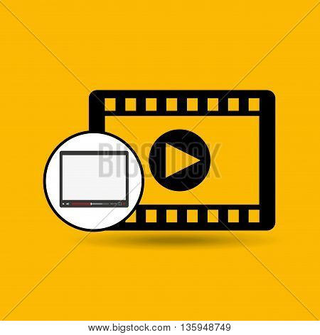 video player template design, vector illustration eps10 graphic