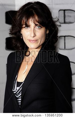 Lisa Edelstein at the Los Angeles premiere of 'RockNRolla' held at the ArcLight Theater in Los Angeles, USA on October 6, 2008.