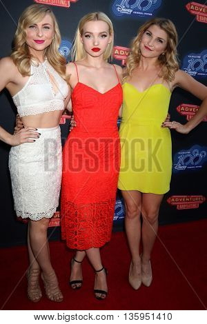 LOS ANGELES - JUN 23:  Shelby Welfert, Dove Cameron, Emmy Buckner at the 100th DCOM Adventures In Babysitting Premiere Screening at the Directors Guild of America on June 23, 2016 in Los Angeles, CA