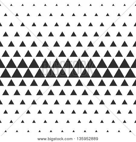 Vector Halftone Transition Abstract Wallpaper Pattern. Seamless Black And White Triangle Background.