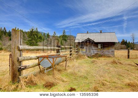 Cute Small Very Rustic Shed On The Farm Land