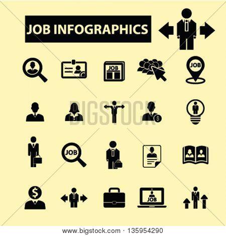 job infographics icons