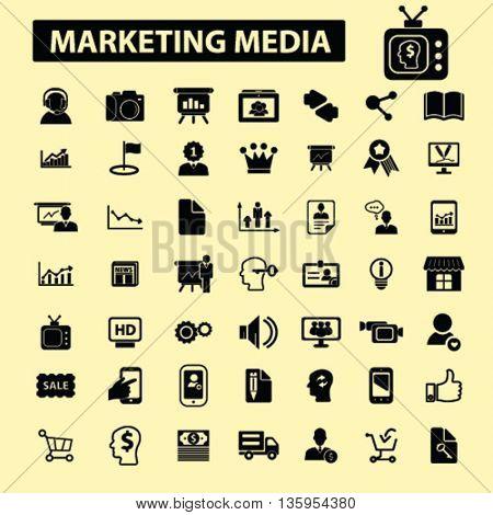 marketing media icons