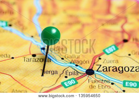 Tierga pinned on a map of Spain