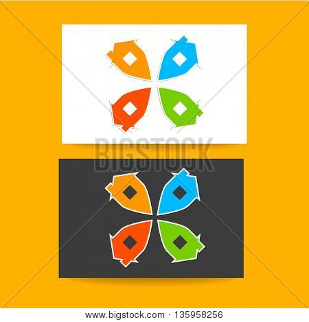 Real estate logo template. Concept business card design for real estate agent, property, home point and etc. Vector graphic illustration.