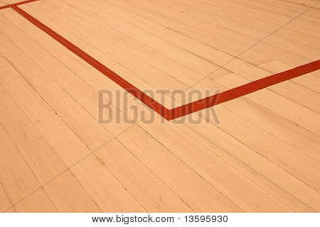 squash court with the red line