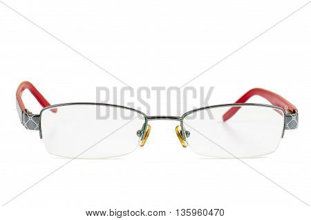 Womens glasses isolated on white background with clipping path