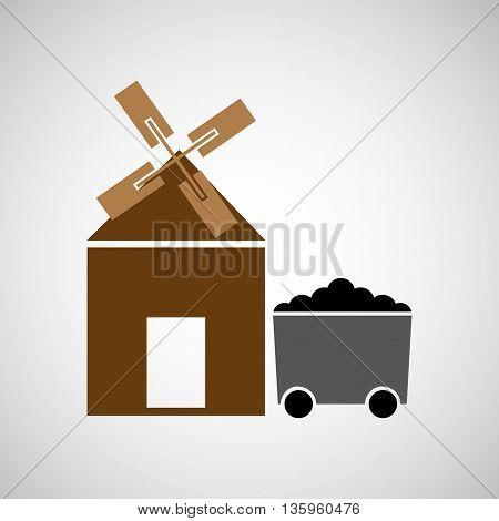 coal mining industry design, vector illustration eps10 graphic