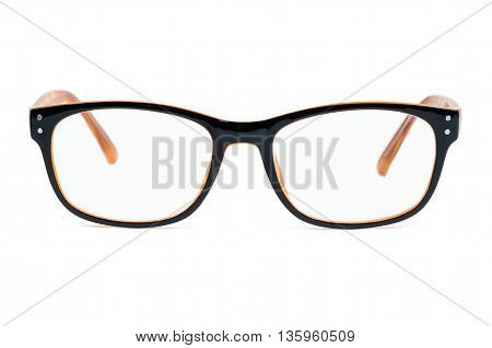 Glasses isolated on white background with clipping path