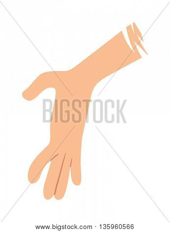 Help hand vector illustration.