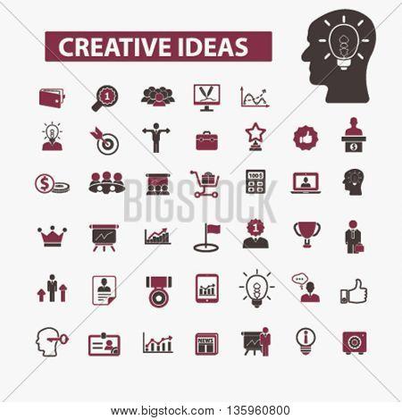 creative ideas icons