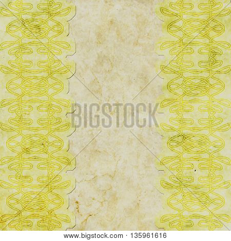 Old paper with celtic pattern - beige and yellow