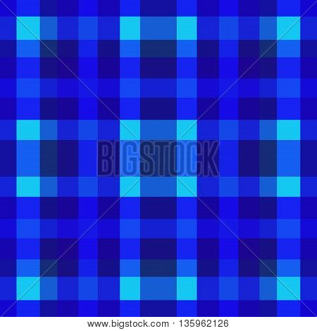 abstract vector tartan seamless - blue and violet