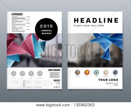Abstract Background. Geometric Shapes and Frames for Presentation, Annual Reports, Flyers, Brochures, Leaflets, Posters