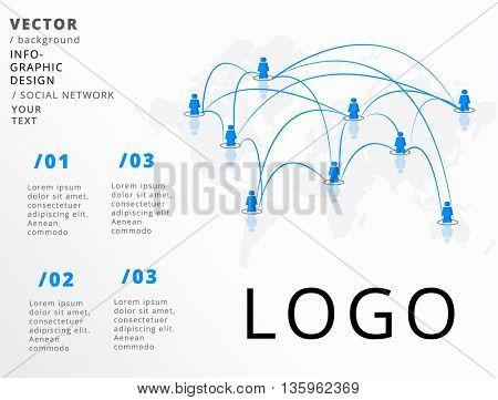 GLOBAL NETWORK , VECTOR INFOGRAPHIC DESIGN