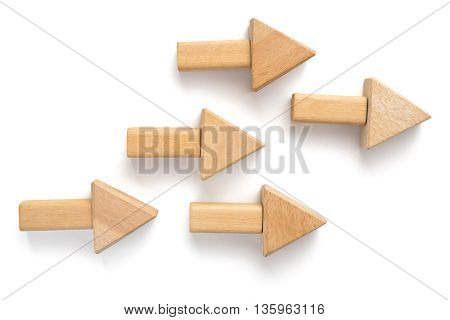 Wood Block On White Background