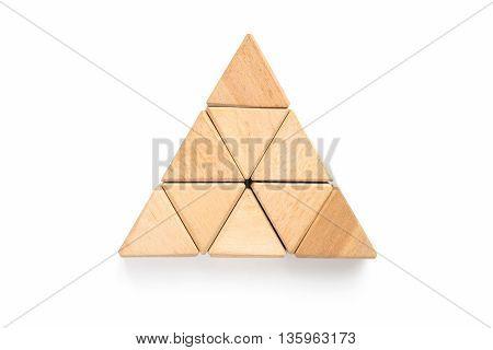 Wood Block On White Background.