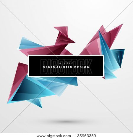 Geometric Vector Background. Triangles Pattern for Business Presentations