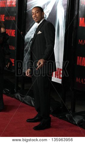 Chris 'Ludacris' Bridges at the Los Angeles premiere of 'Max Payne' held at the Grauman's Chinese Theater in Los Angeles, USA on October 13, 2008.