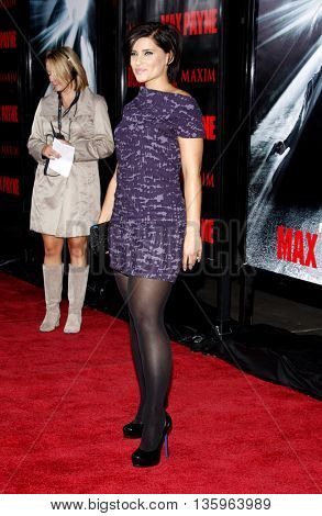 Nelly Furtado at the Los Angeles premiere of 'Max Payne' held at the Grauman's Chinese Theater in Los Angeles, USA on October 13, 2008.