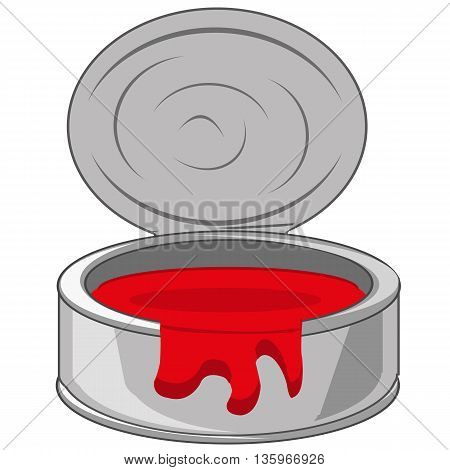 Capacity with red paint on white background is insulated