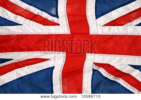 british flag close up