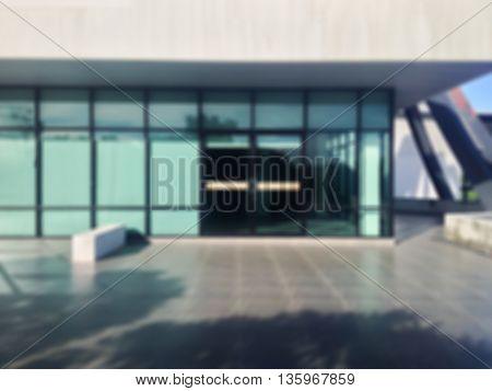 Blurred background blank or space area in front of door way or office gate