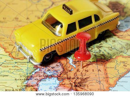 Kenia Africa Map Taxi